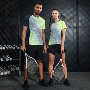 Wholesale Quick Dry Badminton Sports Clothes For Women Men Table Tennis Suit Breathable Sports T Shirt Shorts Skirt Wear Sets
