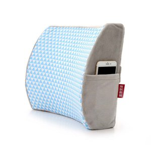 Wholesale Orthopedic Back Seat Support Cushion Memory Foam Chair Back Cushion Office Massage Pad Car Driver Back rest Pillow