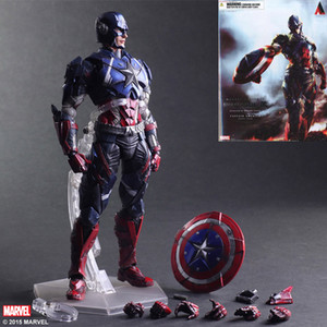 Wholesale Movie Figure CM The Avengers Captain America Joint movable PVC Action Figure Model Collectible Toy doll lol