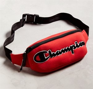 Wholesale Outdoor Motion Embroidery Waist Pack Champion Chest Bag Couple Men And Women Diagonal Package Canvas Red Black zt C1