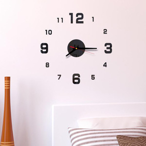 2019 modern design rushed Quartz clocks fashion watches mirror sticker diy living room decor new arrival 3d real big wall clock