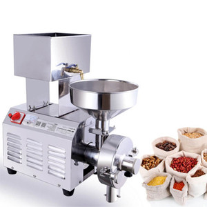 Wholesale Qihang_top W Commercial Grain Grinder Grinding Machine For Spices Corn Soy Bean Crusher electric Grain Mill Pulping