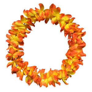 Wholesale Hawaiian Flower Garland Necklace Fashion Beach Party Wedding Artificial Flower Decoration Cheerleading Garland Necklace Style HHA1086