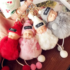 Wholesale Cute Plush Barbie Doll Key Chains Fashion Girls Women Bag Pendant Decoration Key Buckle Types