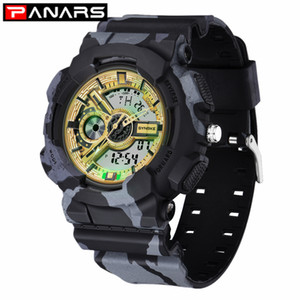 Wholesale electronic military for sale - Group buy PANARS New Military Digital Watch Camouflage Outdoor Sports Double Display Electronic Waterproof Meter Watches for Men