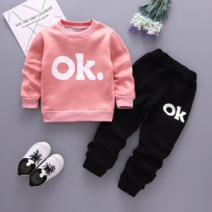 Wholesale 2019 Children's Garment Male Girl Sweater Suit Baby Kids Girls Autumn Clothing Boys Set Childrens Clothes