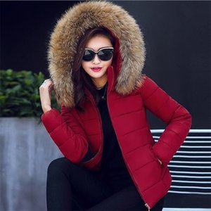 Wholesale womens winter jackets New Parkas for women Wadded Jackets With a Hood Large Faux Fur Warm Winter Coat Women Plus size XL