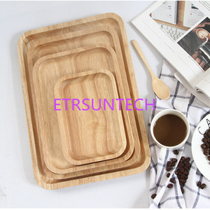 20pcs lot Creative Dishes And Healthy Natural Woodround Wooden Tray Snack Dish Fruit Dessert Wooden Utensils Custom laser logo