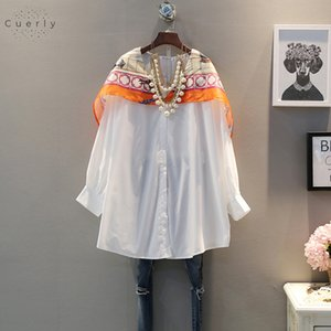 Wholesale 2019 Spring And Blouses Summer Women Shirt Korean Print Style Fashion Casual And Tops Long New Sleeved Wild Women Clothing