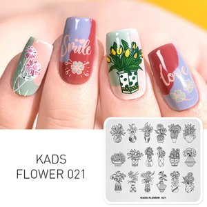 Wholesale Nail Stamping Plates Flower Bouquet Potted Plants Flowers Nail Art Stamping Template Stamp Stencil for Nails Manicure una
