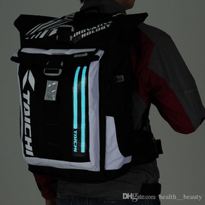Wholesale 2019 HOT style waterproof racing bag cross country motorcycle rider riding bag LED cold light at night backpack for day and night