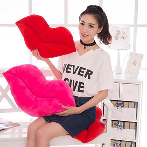 Creative Sexy Lip Big Plush Pillow Cushion Large Red Lips Soft PP Cotton Stuffed Toys Birthday Gifts