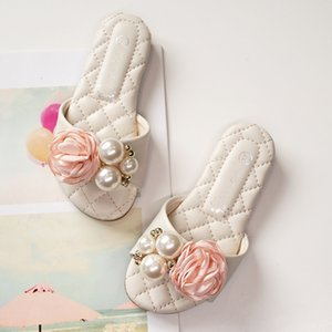 Wholesale Children Summer Beach Girls Bowknot Slippers Korean style beautiful footwear bowknot design big kids slipper203A-48