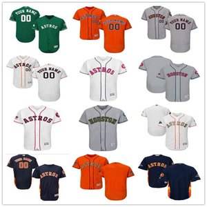 2018 custom Men's women youth Houston Astros Jersey Any Your name and your number Home Blue Grey White Kids Girls Baseball Jerseys