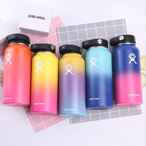 Wholesale 12oz Wide Mouth Outdoors Sports Bottle Tumbler Flask Vacuum Insulated Stainless Steel Water Bottle T191026