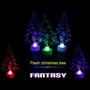 Wholesale Hot Christmas Changing Color Night Light Acrylic Xmas Tree Santa LED Lamp Home Party Decor LSK99