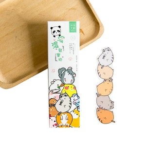 Wholesale 30pcs box Lovely Small Cartoon Animal Park Paper Bookmark Book Holder Message Card Party Invitation School Office Supply