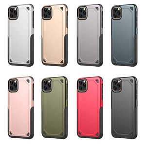 Wholesale Military Armor Dual Layer Case Rugged Protective Hybird PC TPU Cover Anti drop For iPhone Pro Max XS XR X S Plus retail