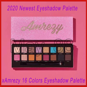 Newest xAmrezy 16 Colors Eyeshadow Palette xAmrezy Shimmer Matte eyeshadow eye shadow eye make up Cosmetics with dhl shipping