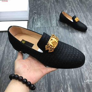 Wholesale Men peas shoes leather casual leather comfortable breathable low top flat shoes men rubber sole size