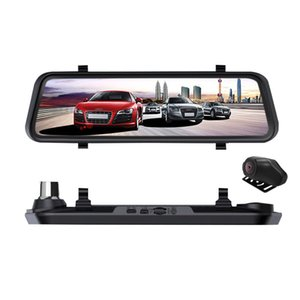 Wholesale 2019 Streaming Media Car DVR Touch Screen P HD Night Vision Rearview Mirror Driving Recorder Large New Style Dash Camera