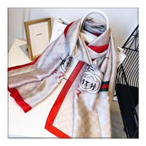 2019 NEW Silk Scarf for Women Spring Summer Europeandesign green red Long Scarves Wrap with Tag 180x90Cm Shawls