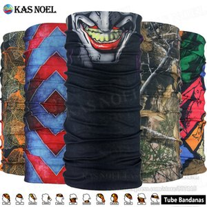 Multifunctional Skull Face Bandana Woodland Camo Headwear Versatile Sports Seamless Headband Headwrap Face Mask For Camping Running Cycling