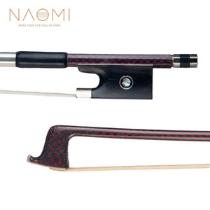 NAOMI Violin Bow 4 4 Carbon Fiber Bow For 4 4 Full Size Violin W  Paris Eyes Violin Bow Parts Accessories New