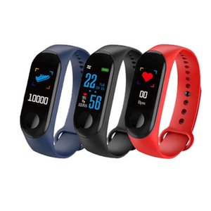 M3 Color Screen Smart Bracelet Fitness Sleep Tracker Pedometer Watch Heart Rate Blood Pressure Monitor Bluetooth Sports Smart Wristband