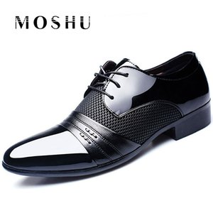 Men Dress Shoes Business Oxford Lace Up Quality Formal Office Shoes Mens Loafers Breathable Pointy Plus Size 38-47