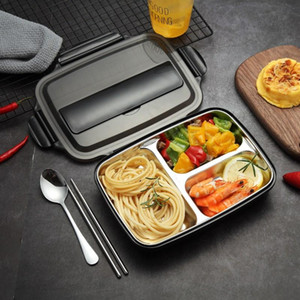 Wholesale lunch box adults for sale - Group buy Stainless Steel Lunch Box with Spoon Leak proof Lunch Bento Boxes Dinnerware Set Microwave Adult Children Food Container