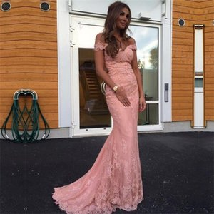 Wholesale Glamorous Sweetheart Long Mermaid Bridesmaid Dresses Lace Appliques African Bridal Party Gowns Maid Of Honor Dress
