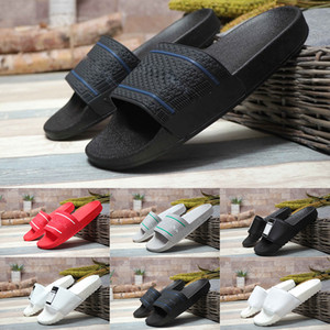Wholesale 2019 Men s Women s Summer HN Adilette Slide Sandal Shoes Fashion Girls Peep Toe Slippers Quick dry Luxury Wide Flat Beach Shoes Size