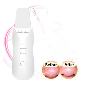 Wholesale USB Rechargeable Ultrasonic Face Skin Scrubber Facial Cleaner Peeling Vibration Blackhead Removal Exfoliating Pore Cleaner Tools