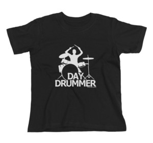 Wholesale Kids Unisex Boys Girls DAY DRUMMER Drum Drumming Sticks Kit Band Music T Shirt Funny Unisex Casual top