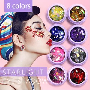 Wholesale Holographic Sequins Glitter Shimmer Loose Powder Pigment Tattoo Glitter Makeup Body Glitter Festival Make Up Eye Shadow