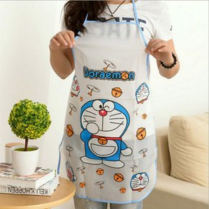 New Promotion Special Offer PE Apron Kit Bib Apron Cartoon Long Sleeve Cuff Waterproof Aprons Gowns Suits For Men And Women