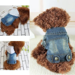 Pet Dog Cat Clothes sweater Blue Jean Denim Puppy Coat Jacket Clothes Costume Apparel on Sale