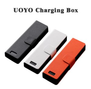 Wholesale UOYO Charger Charging Case Coco Smoking Power Bank LCD mah Leather Bag Battery Box for Jul V3 Pods Cartridge Vape Pen Kit DHL