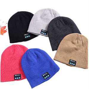 Wholesale new Bluetooth Music Beanie Hat Warm Beanie CapWireless Smart Cap Headset Speaker Microphone Handsfree Music Knit Hat T2C5083