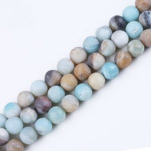 Multi Color Natural Matte Frosted Gems Stones Beads Jewelry on Sale