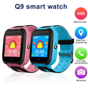 Wholesale Q9 Smart Watch For Kids Watch With Remote Camera Anti lost Children Smartwatch LBS Tracker Wrist Watches SOS Call For Android IOS