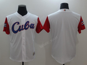 Wholesale jerseys for baseball resale online - 2017 World Cuba Baseball Jerseys Wbc Cheap Men Cuba Classic Jersey White Color For Sport Fans Breathable Top Quality