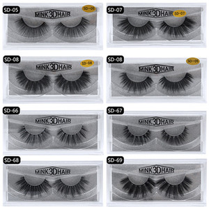 Wholesale 17style 3d Mink Hair Fake Eyelash 100% Thick real mink HAIR false eyelashes natural Extension fake Eyelashes DHL free shipping