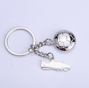 Wholesale 60pcs Creative Metal Ball Shoes Keychain Football Keychain Advertising Small Gifts HYS316