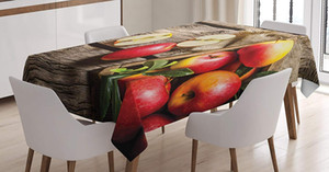 Wholesale Fruits Decor Tablecloth Apples Wood Floor Penal Rusty Organic Nutrition Vitamin Harvesting Dining Room Kitchen Table Cover