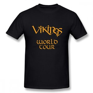 Wholesale Cartoon Design Vikings Tees World Tour T shirt Man New Arrival Top Design For Man Quality Cotton Clothes