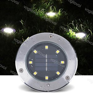 Wholesale Solar Led Outdoor Lighting Underground Lamps LED Buried Lamp Light Outdoor Path Way Garden Under Ground Decking Waterproof Warm White DHL