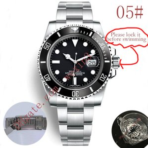 20 Colors Luxury Watches Green Black Ceramic Bezel Dial 40mm 2813 Automatic Stainless Steel Bracelet Glide Lock Clasp waterproof Men Watch
