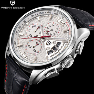 Wholesale Men Pagani Design Luxury Brands Fashion Timed Movement Military Leather Quartz Watches Relogio Masculino MX190725